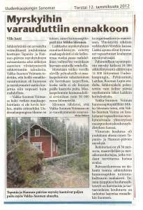 Uudenkaupungin Sanomat 12.1.2012